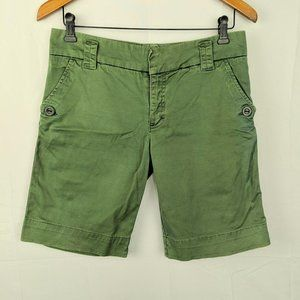 Sanctuary Green Terrain Side Strip Knee Shorts